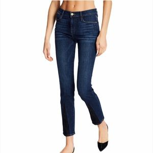 FRAME Le High Straight Gusset Cropped Ankle Jeans